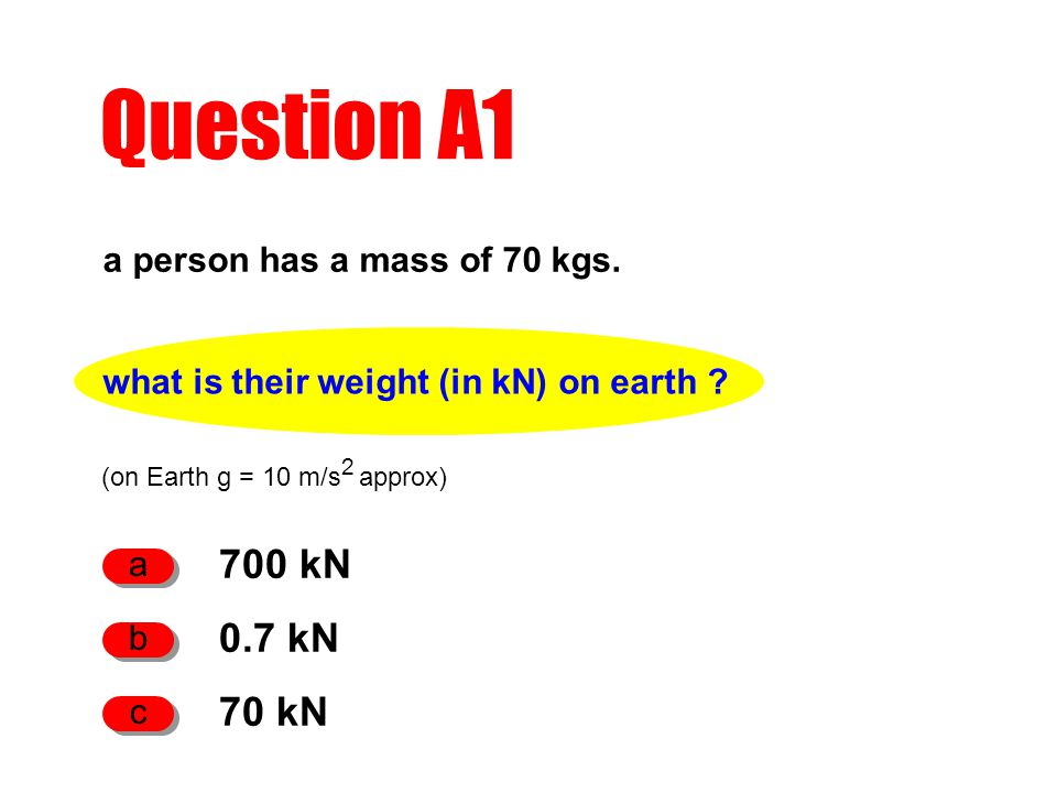 what is their weight (in kN) on earth .