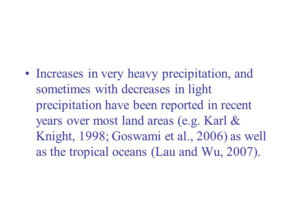 Changes of Precipitation Spectra US (48 states)