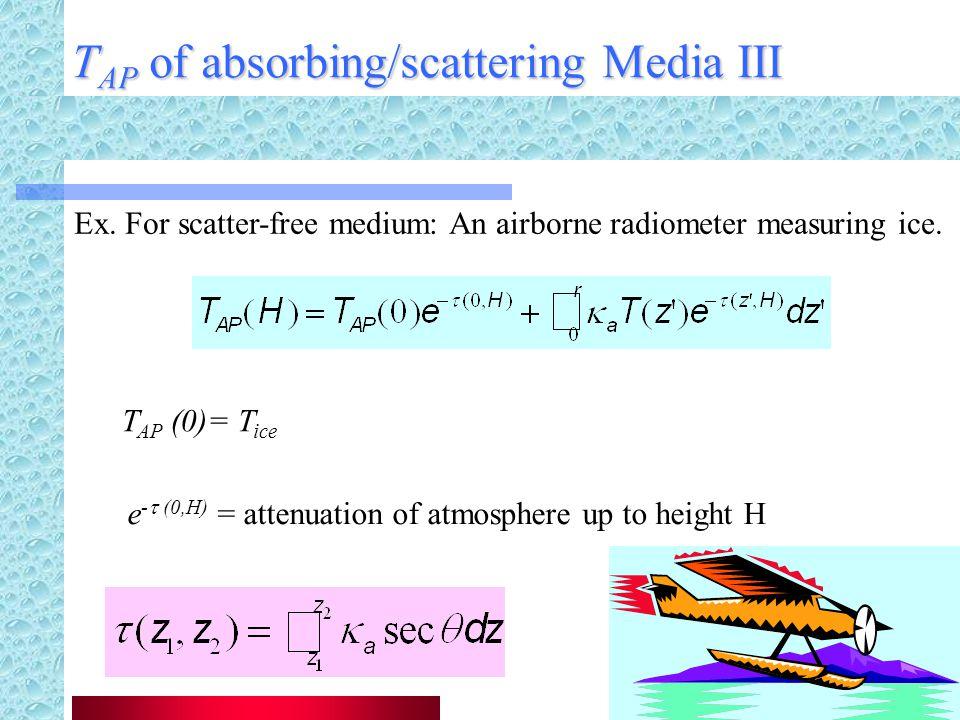 T AP of absorbing/scattering Media III Ex.