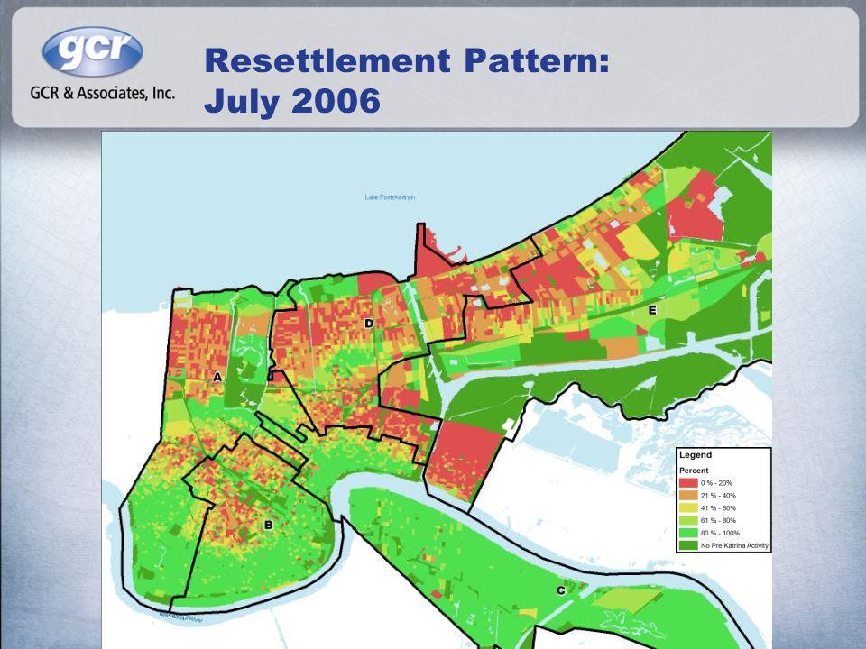 Resettlement Pattern: July 2006