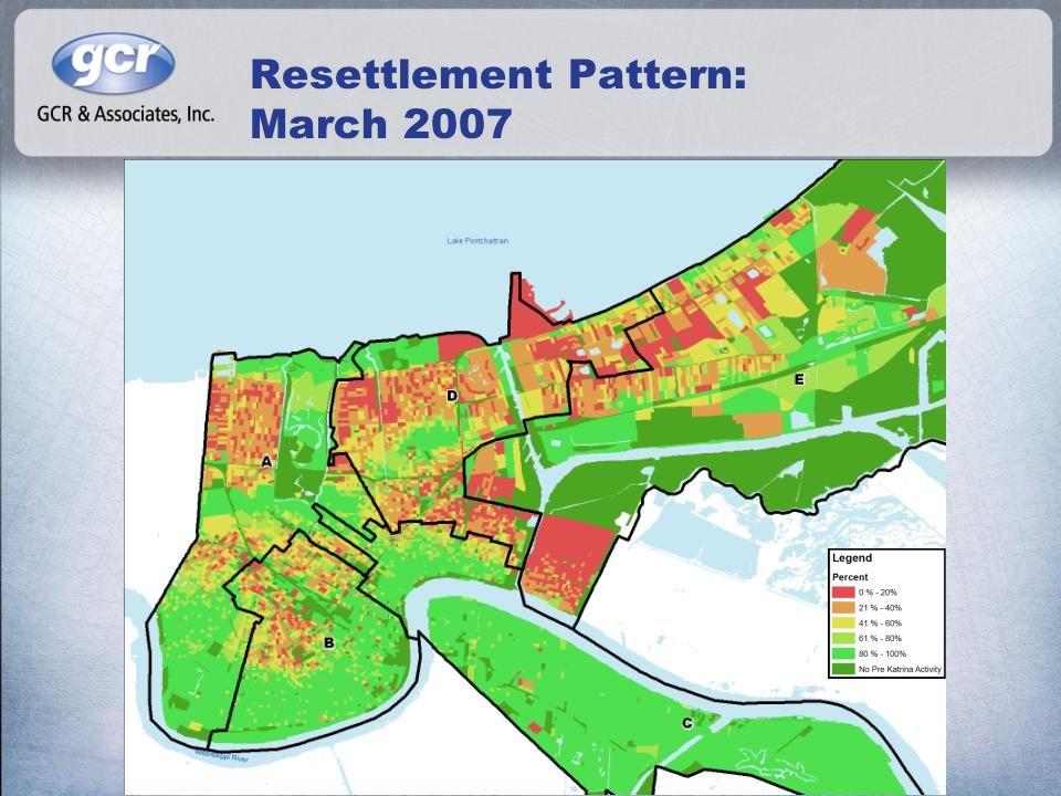 Resettlement Pattern: March 2007
