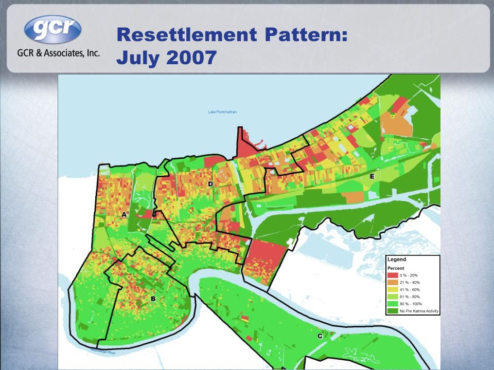 Resettlement Pattern: July 2007