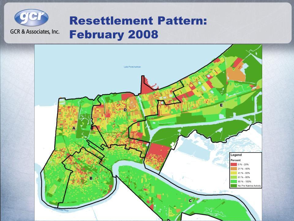 Resettlement Pattern: February 2008
