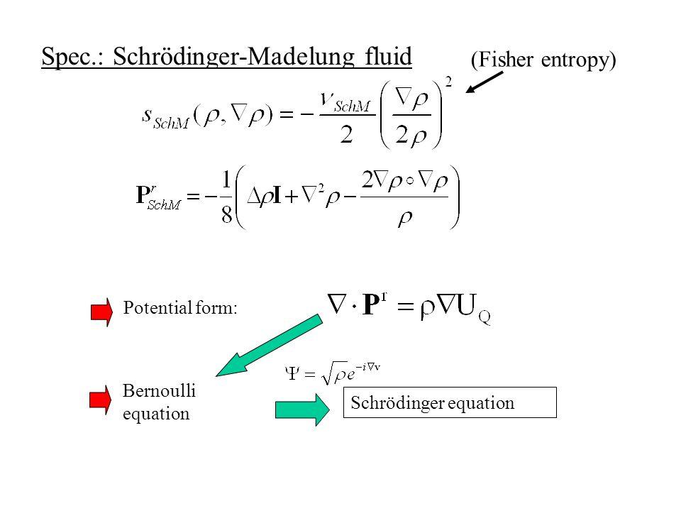 reversible pressure Potential form: Euler-Lagrange form Variational origin