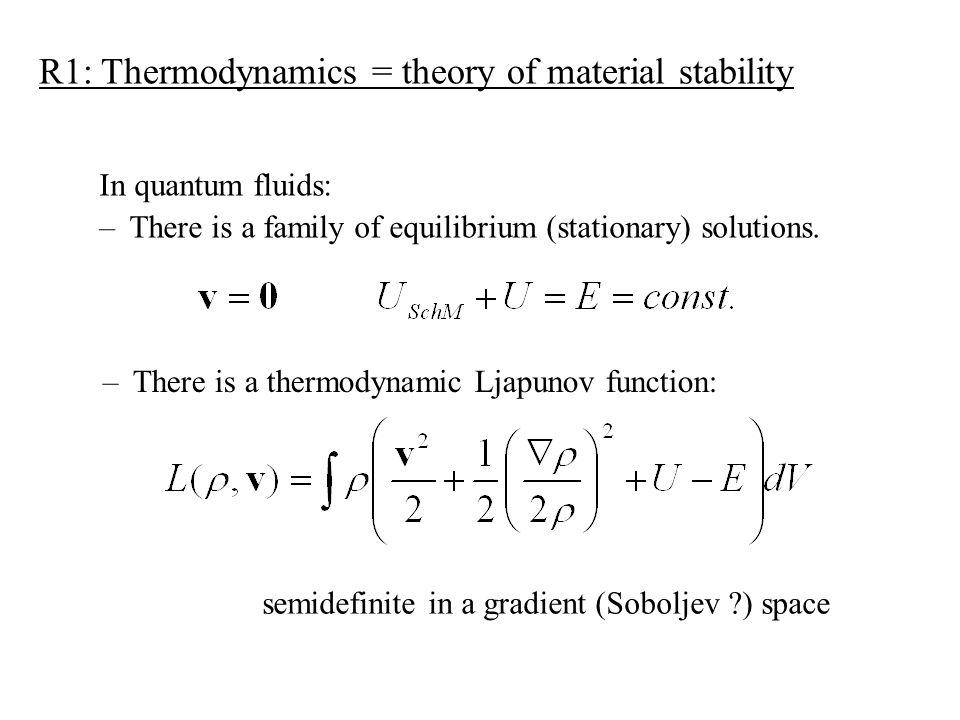 Spec.: Schrödinger-Madelung fluid (Fisher entropy) Potential form: Bernoulli equation Schrödinger equation
