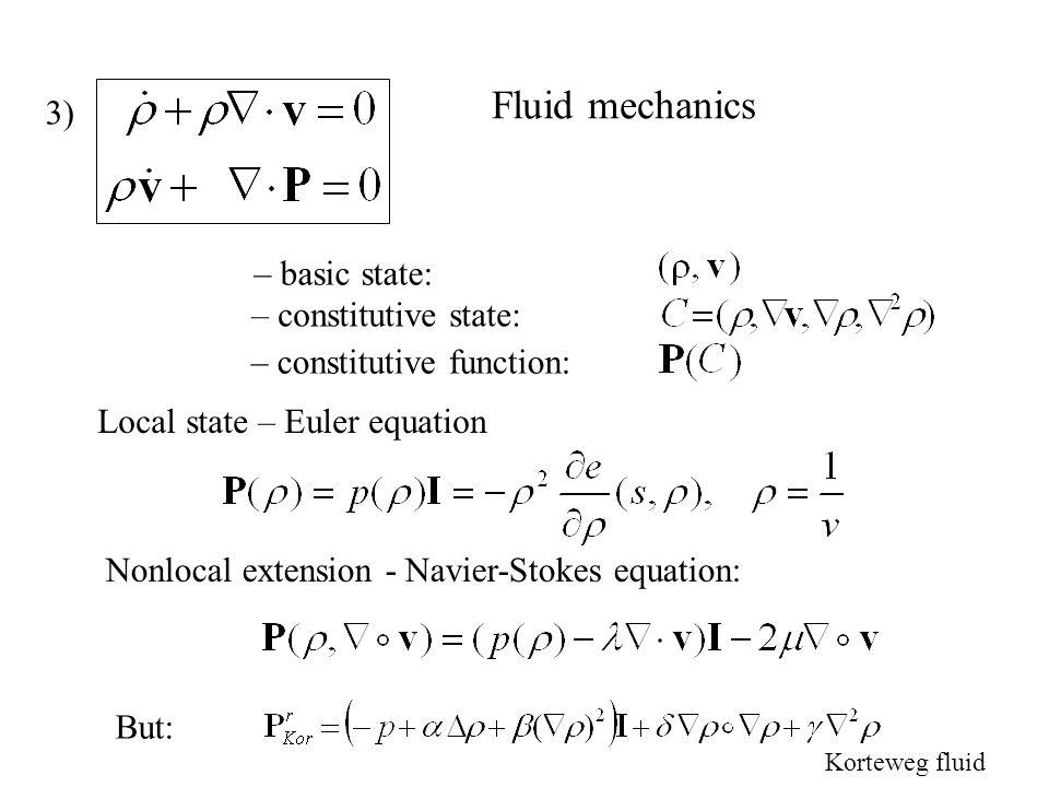 Internal variable – basic state: – constitutive state: – constitutive function: A) Local state - relaxation 2) B) Nonlocal extension - Ginzburg-Landau