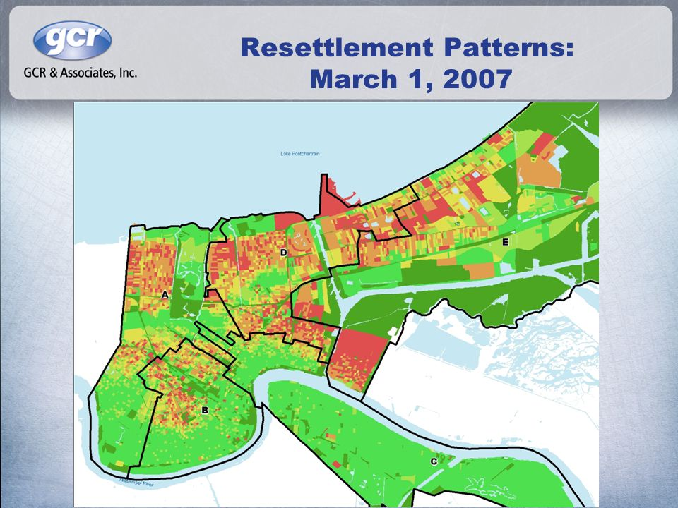Resettlement Patterns: March 1, 2007