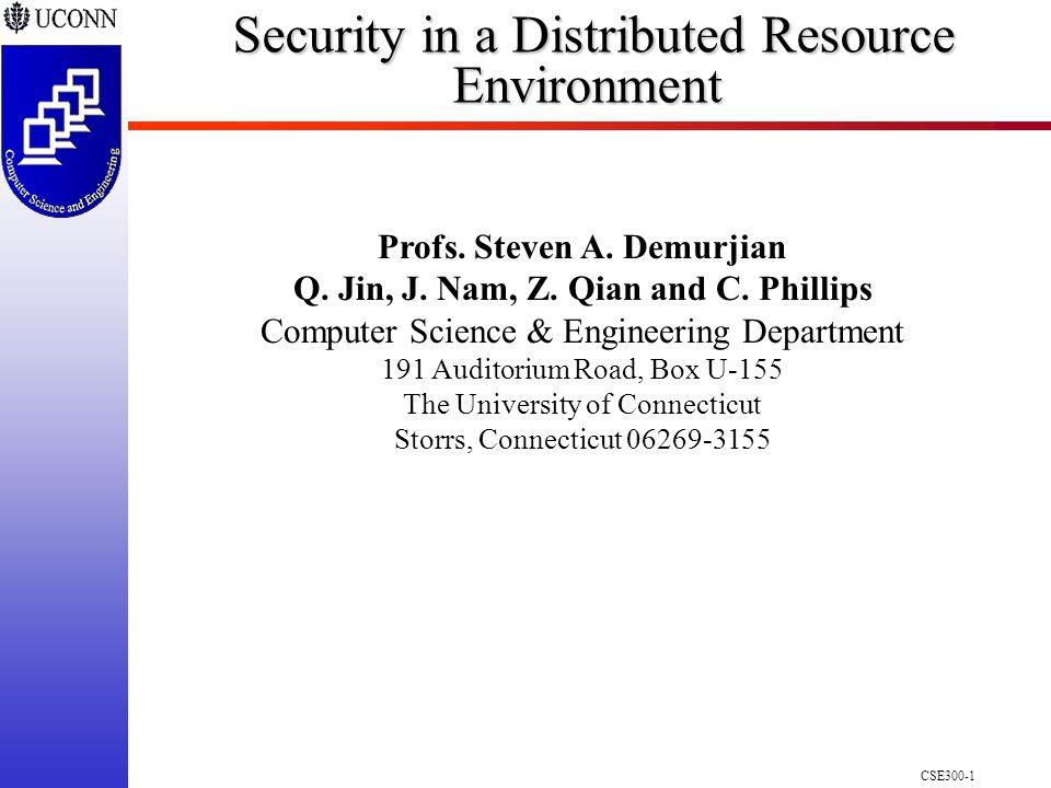 CSE300-1 Profs. Steven A. Demurjian Q. Jin, J. Nam, Z.