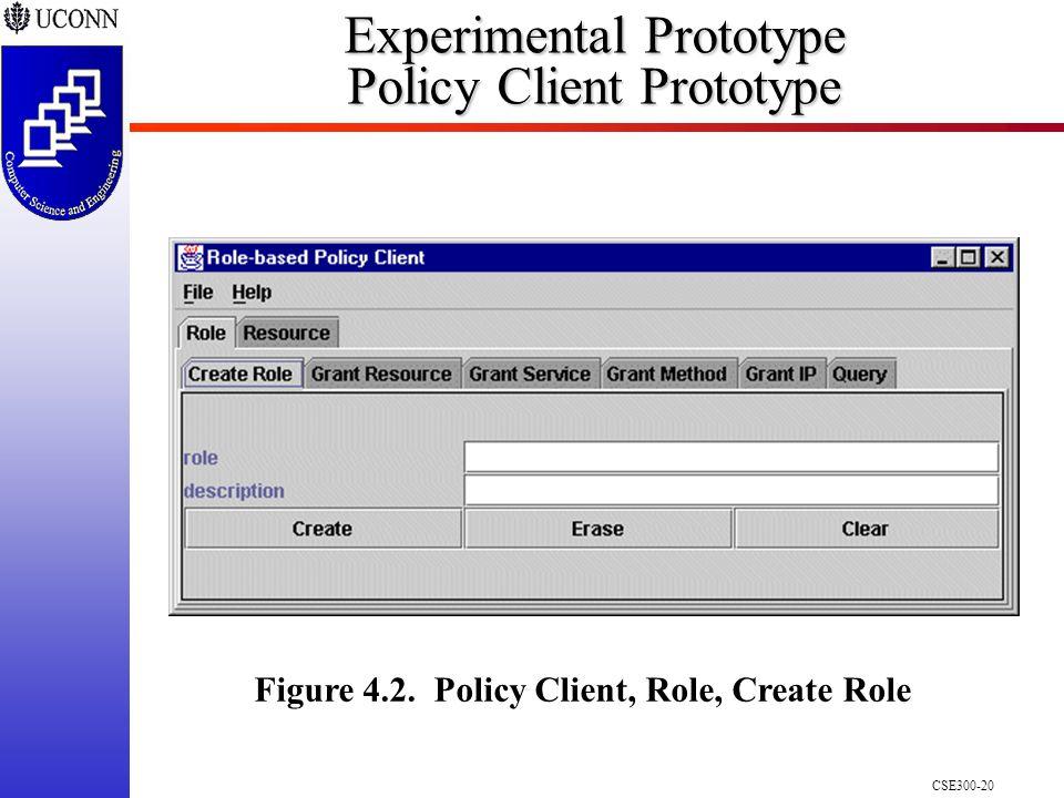CSE300-20 Experimental Prototype Policy Client Prototype Figure 4.2.