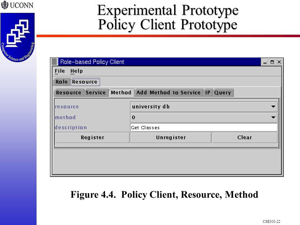 CSE300-22 Experimental Prototype Policy Client Prototype Figure 4.4.