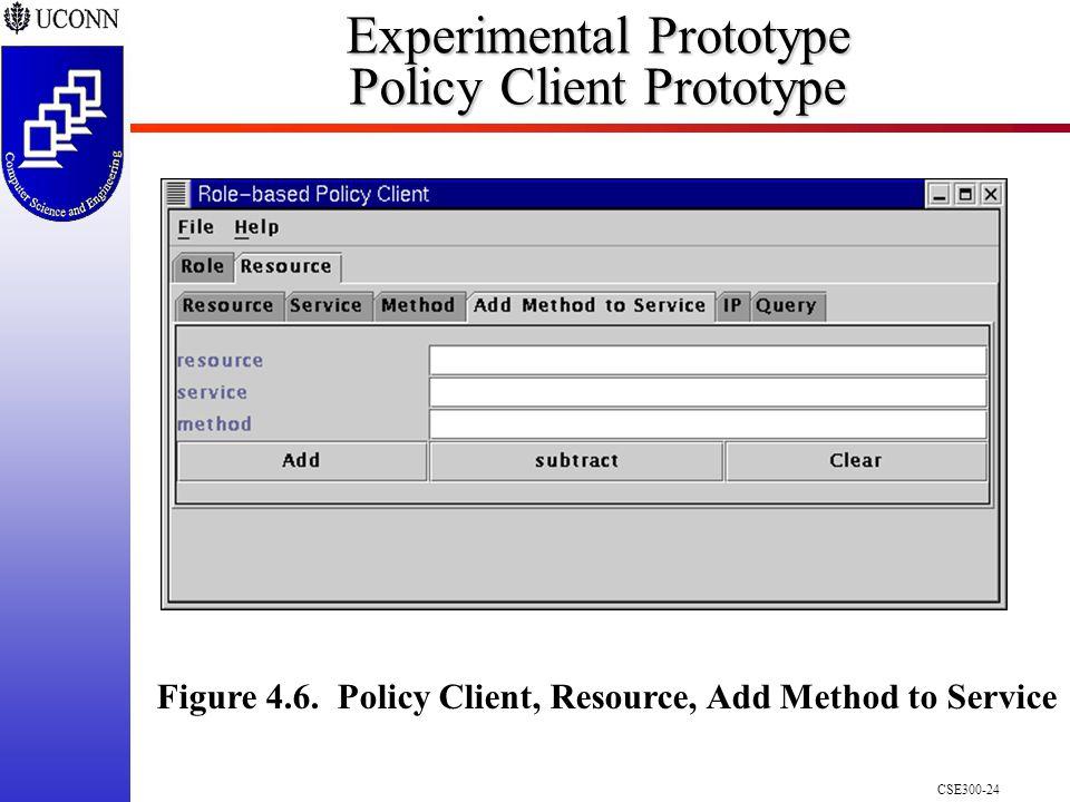 CSE300-24 Experimental Prototype Policy Client Prototype Figure 4.6.