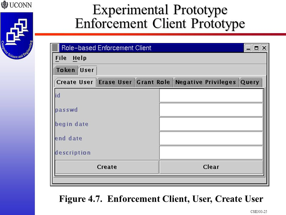 CSE Experimental Prototype Enforcement Client Prototype Figure 4.7.
