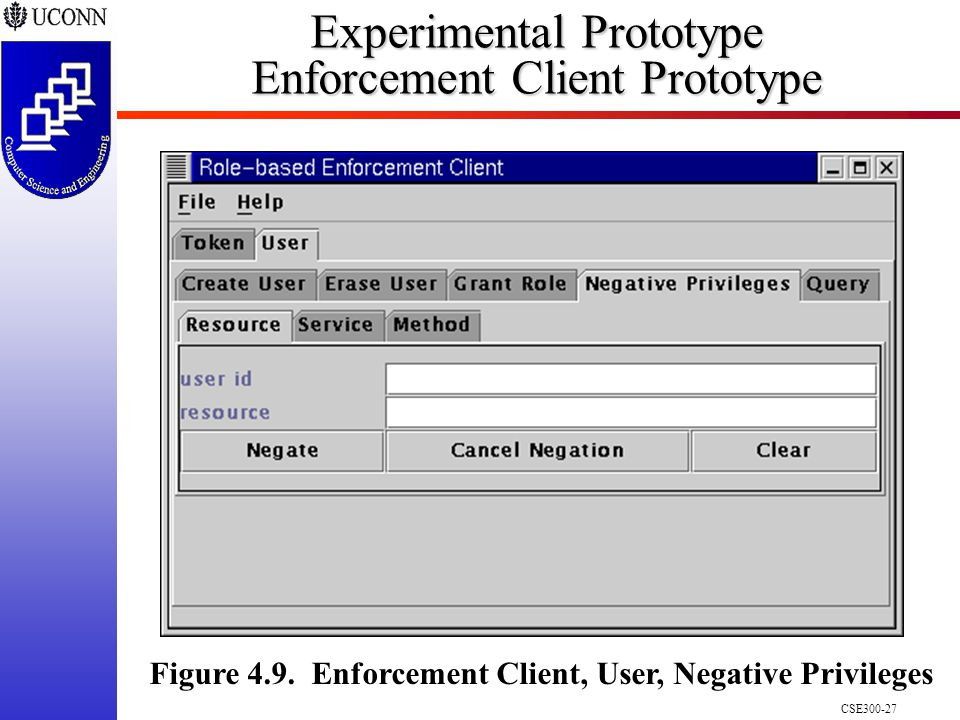 CSE Experimental Prototype Enforcement Client Prototype Figure 4.9.