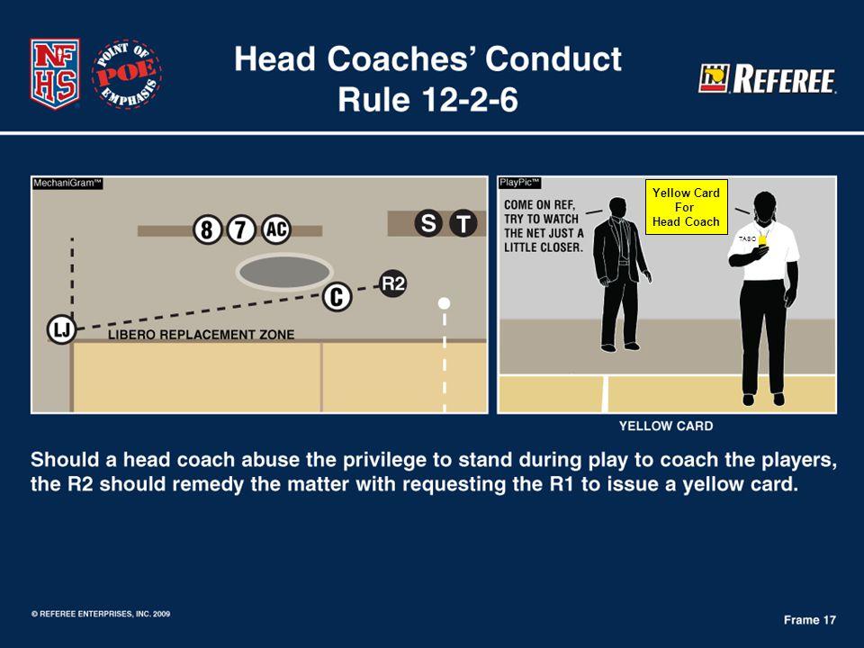 TASO Yellow Card For Head Coach
