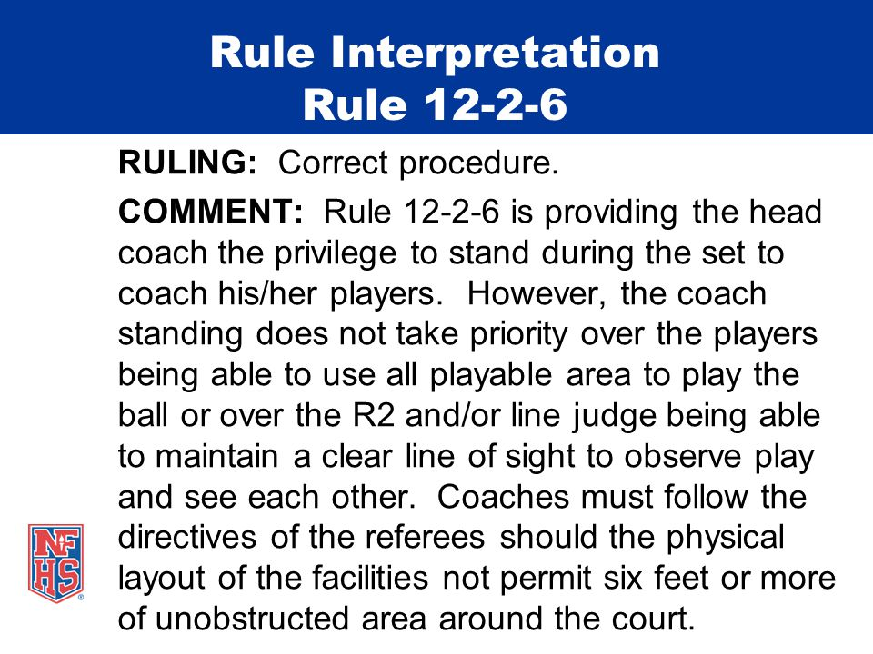 Rule Interpretation Rule 12-2-6 RULING: Correct procedure.