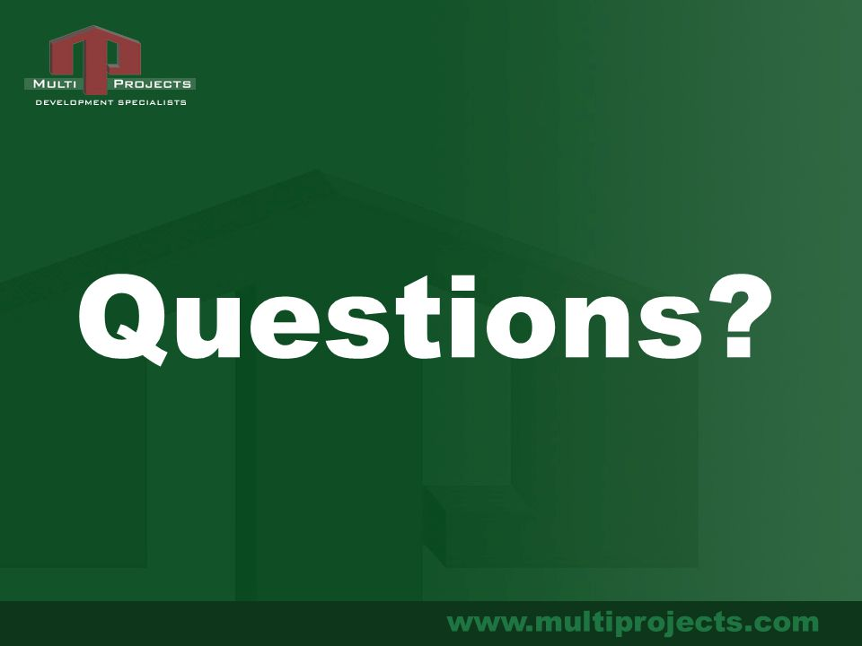 www.multiprojects.com Questions