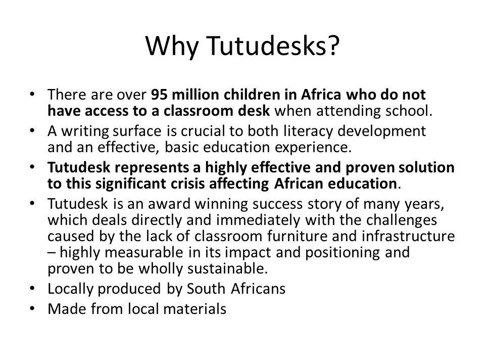 Why Tutudesks.