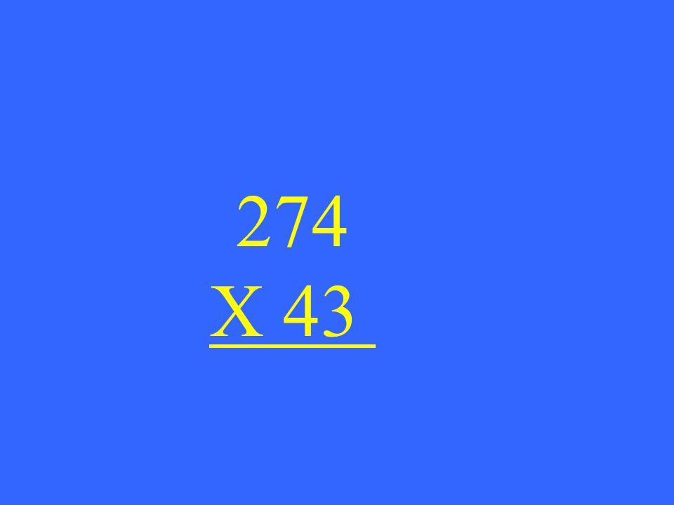 274 X 43