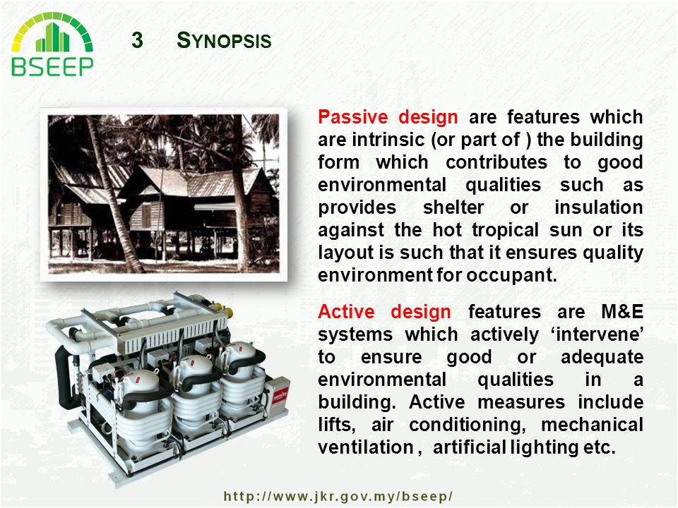14R ESIDENTIAL B UILDING E NERGY -- C ONCLUSION In Residential buildings, we can conclude that building energy comprise the following (only for typical middle class Malaysian family: For residential building a large part of building energy can be attributed to 'life-style' which may be due to socio-economic, cultural and even geographic location in nature.