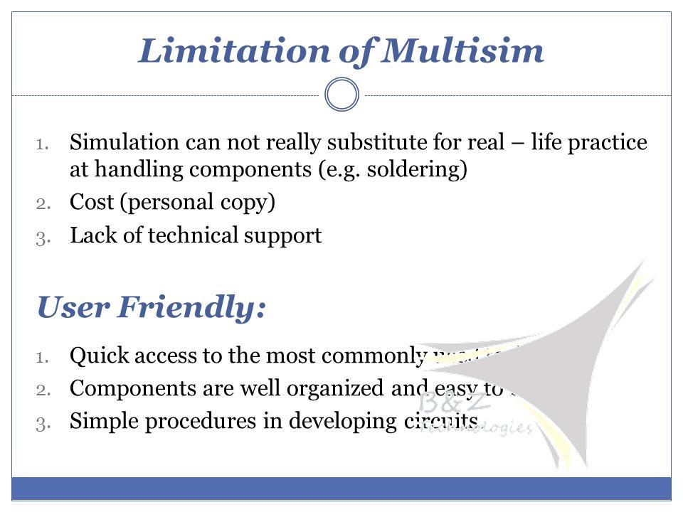 Limitation of Multisim 1.