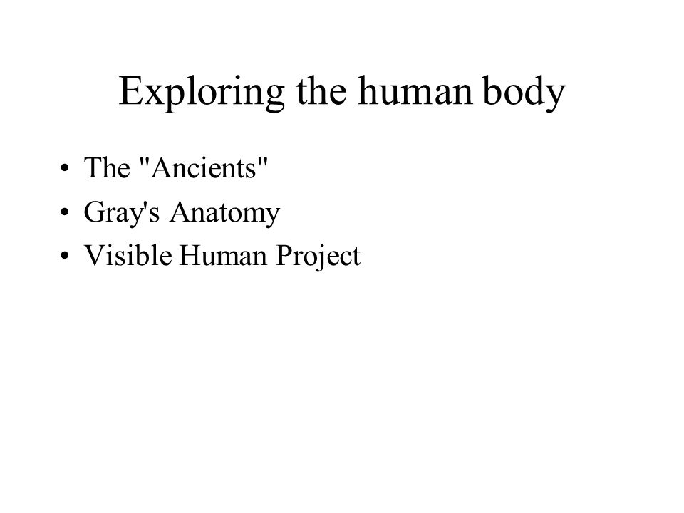 Exploring the human body The