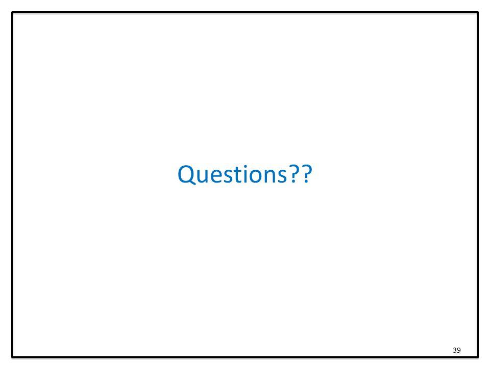Questions 39