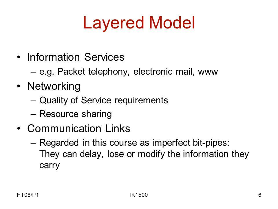 HT08/P1IK15007 Quality of Service Certain Quality of Service (QoS) e.g.