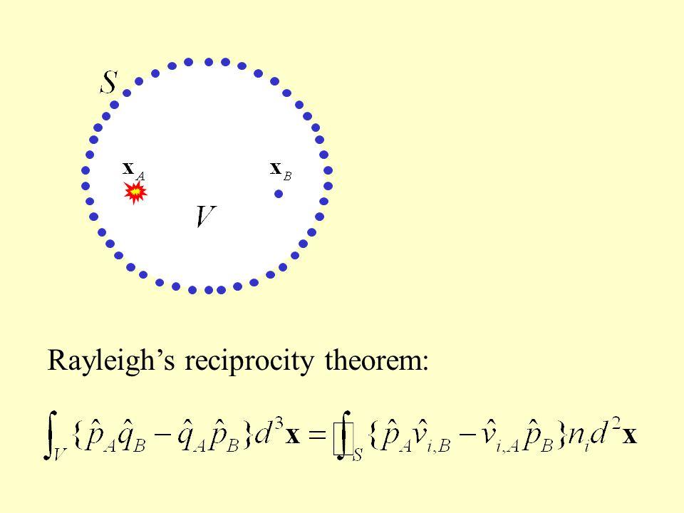 Rayleigh's reciprocity theorem: Time-reversal:
