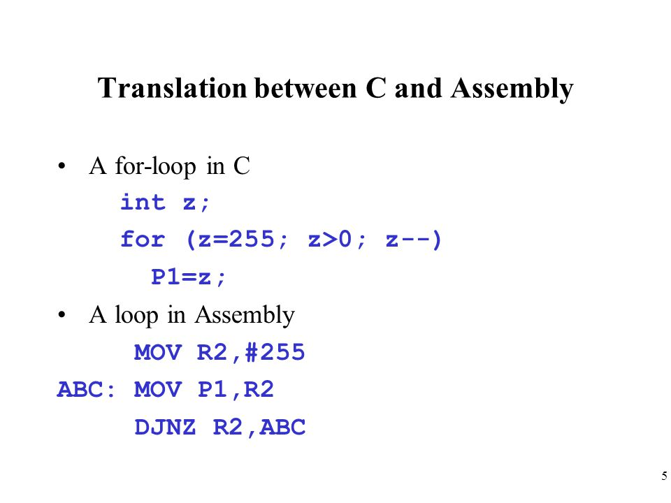 16 Example 7-5 (unsigned int, sbit) Write an 8051 C program to toggle bit D0 of P1 50,000 times.