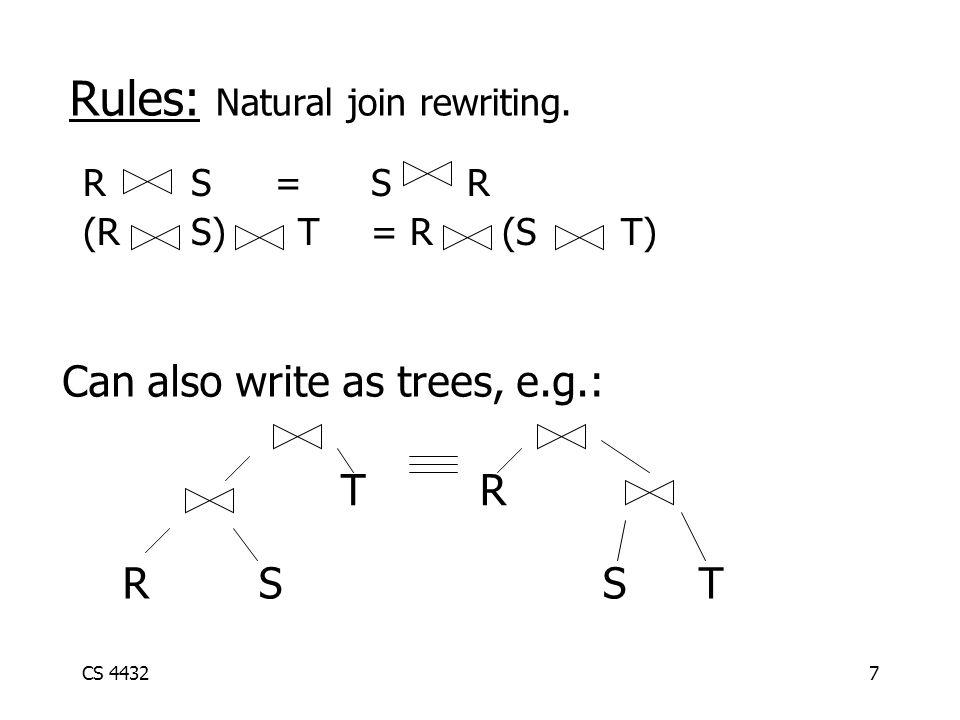 CS 44327 Rules: Natural join rewriting.