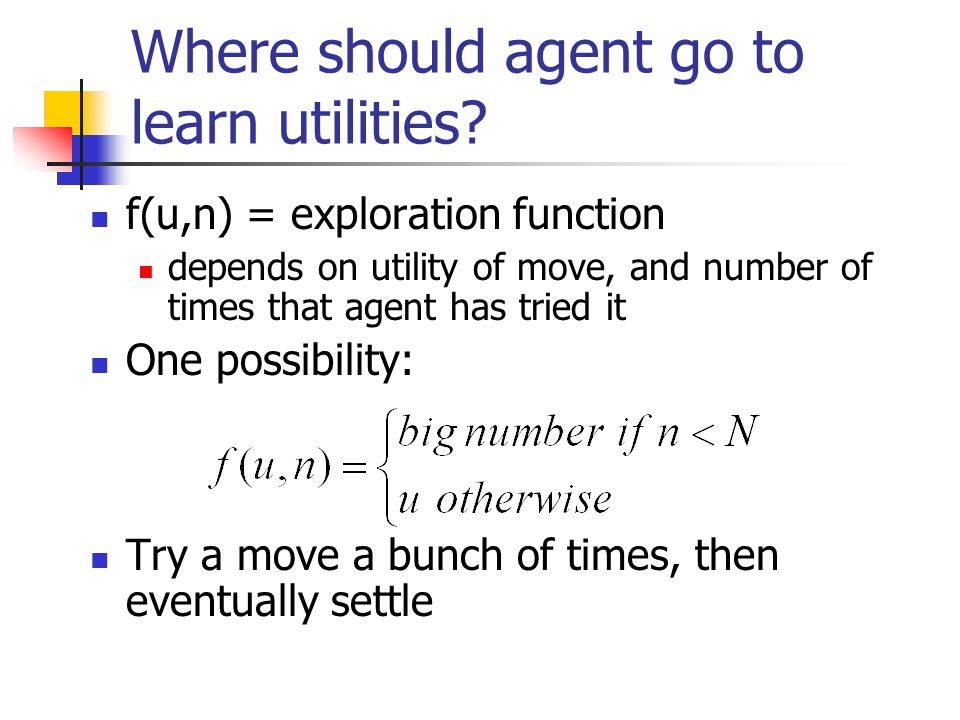 Where should agent go to learn utilities.