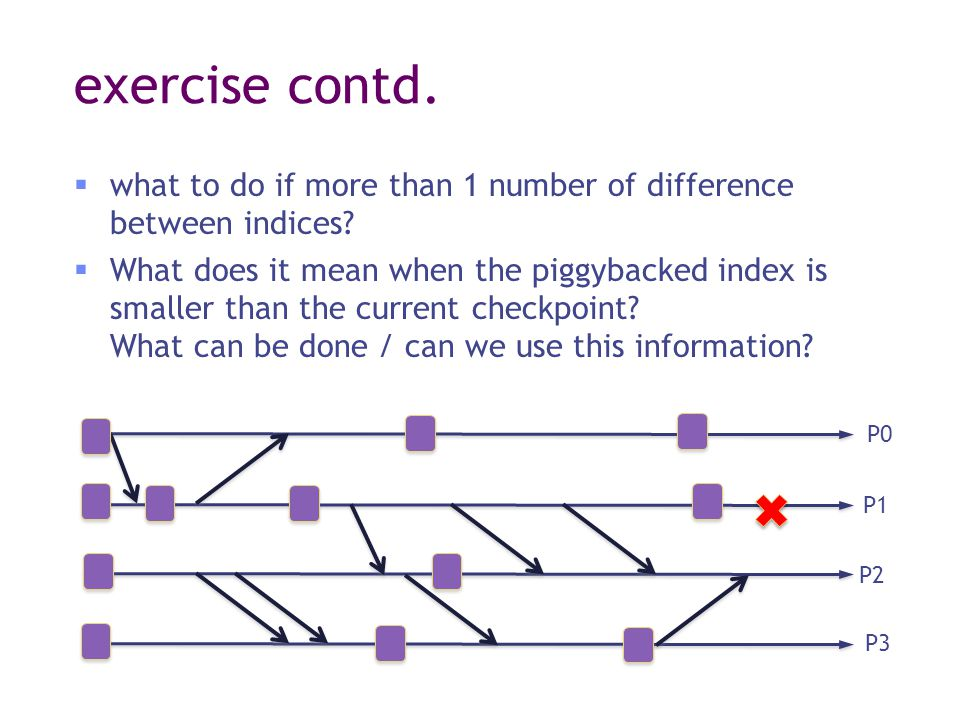 exercise contd.  what to do if more than 1 number of difference between indices.
