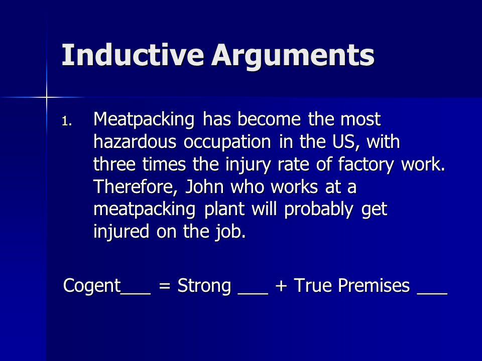 Inductive Arguments 1.
