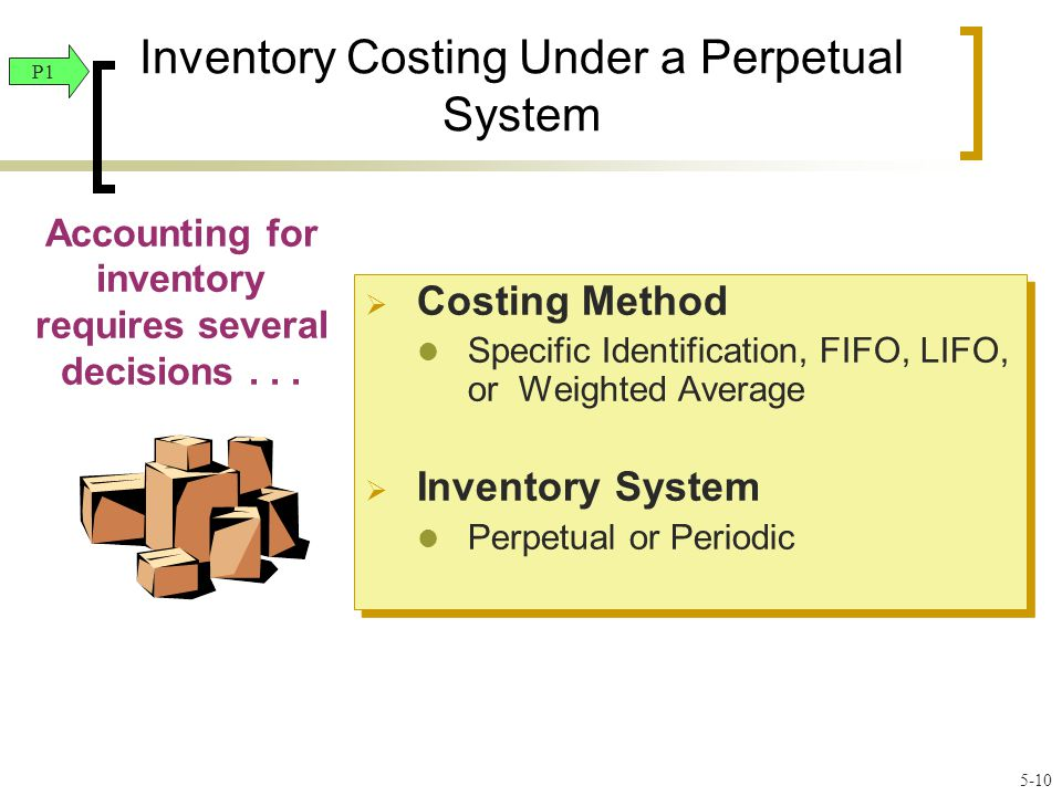 Inventory Costing Under a Perpetual System Accounting for inventory requires several decisions...