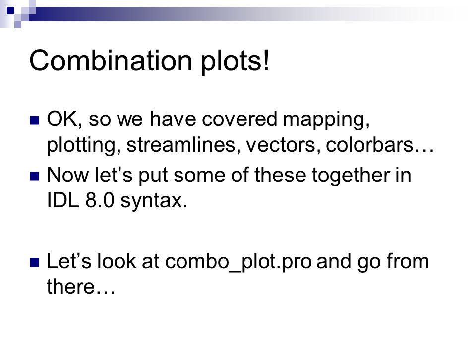 Combination plots.