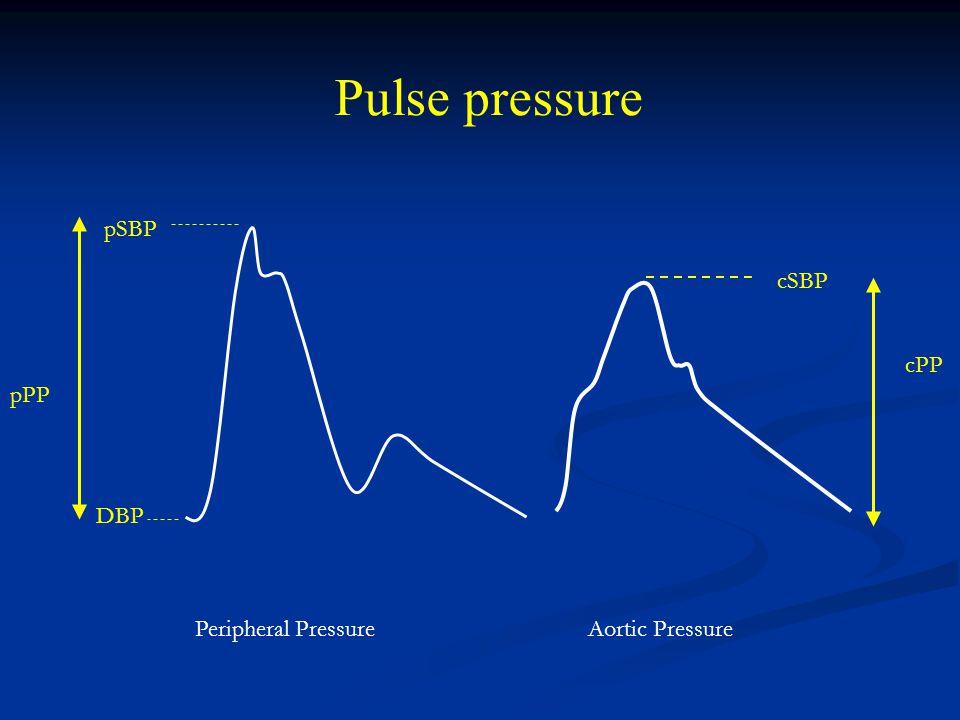 pPP cPP DBP pSBP cSBP Aortic PressurePeripheral Pressure Pulse pressure