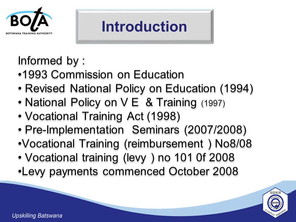 Effective means of disseminating information on VTF.