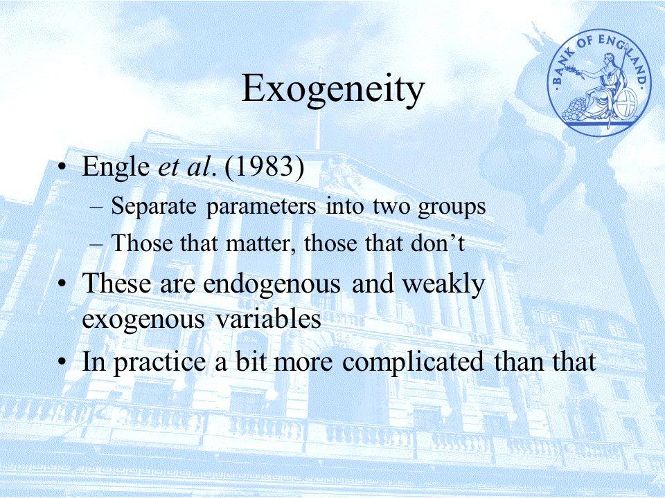 Exogeneity Engle et al.