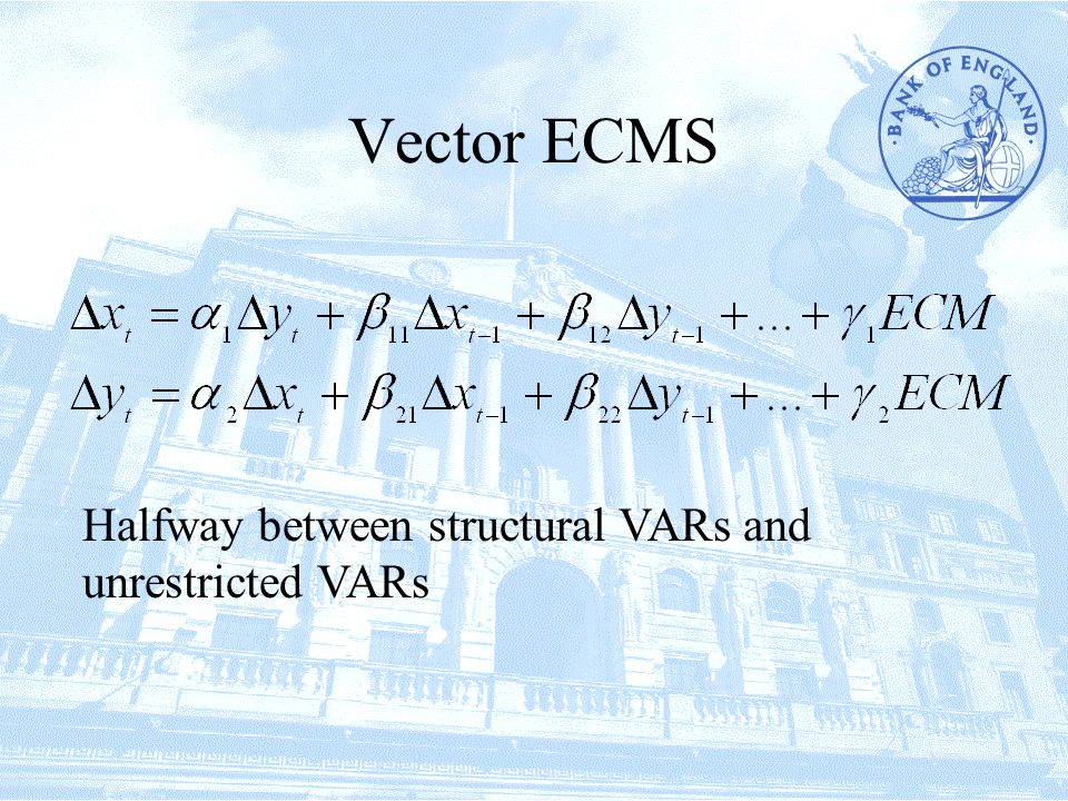 Vector ECMS Halfway between structural VARs and unrestricted VARs