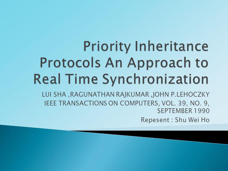 LUI SHA,RAGUNATHAN RAJKUMAR,JOHN P.LEHOCZKY IEEE TRANSACTIONS ON COMPUTERS, VOL.