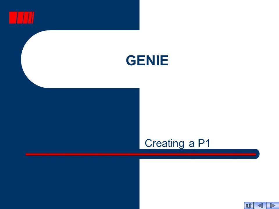 GENIE Creating a P1