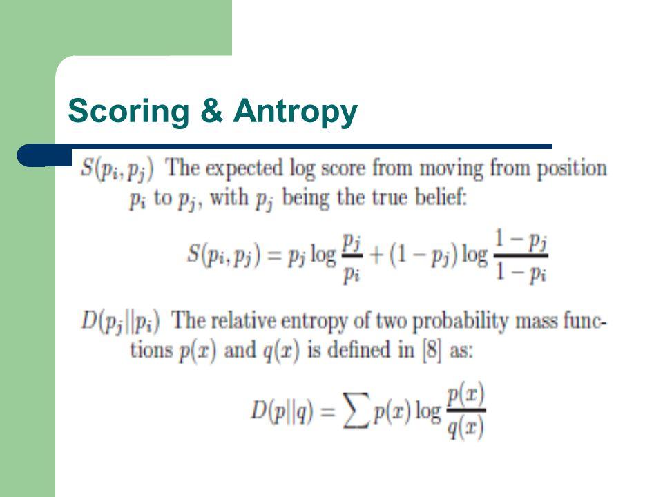 Scoring & Antropy