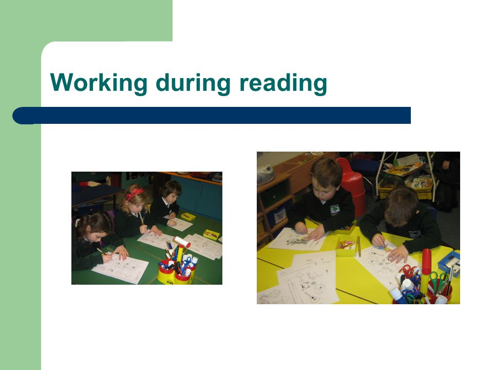 Working during reading