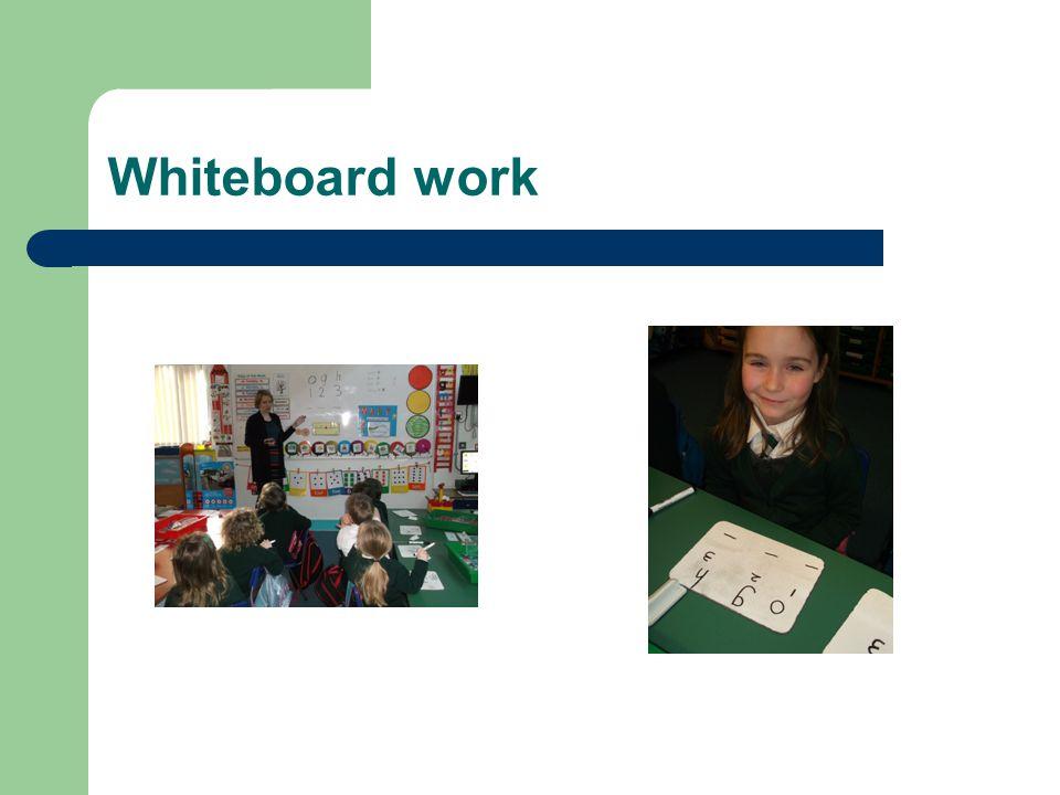 Whiteboard work