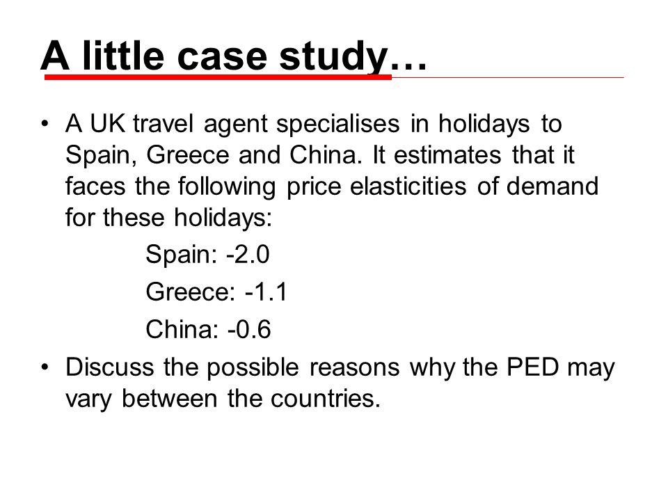 A UK travel agent specialises in holidays to Spain, Greece and China.