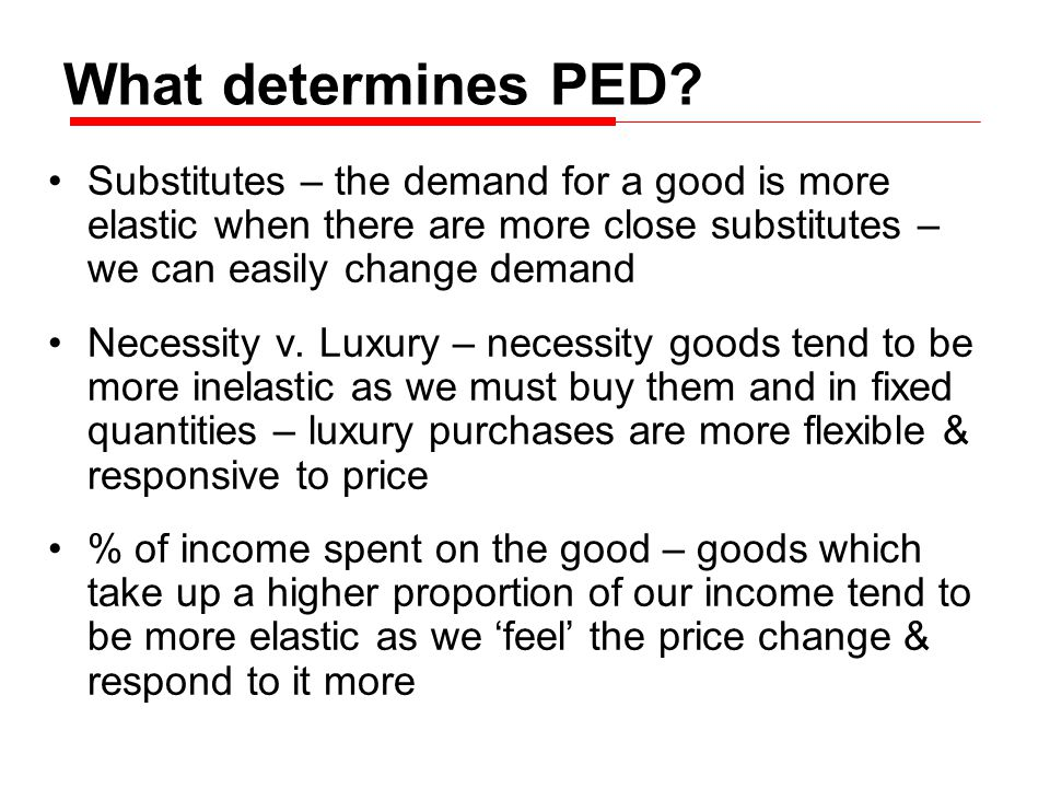 What determines PED.