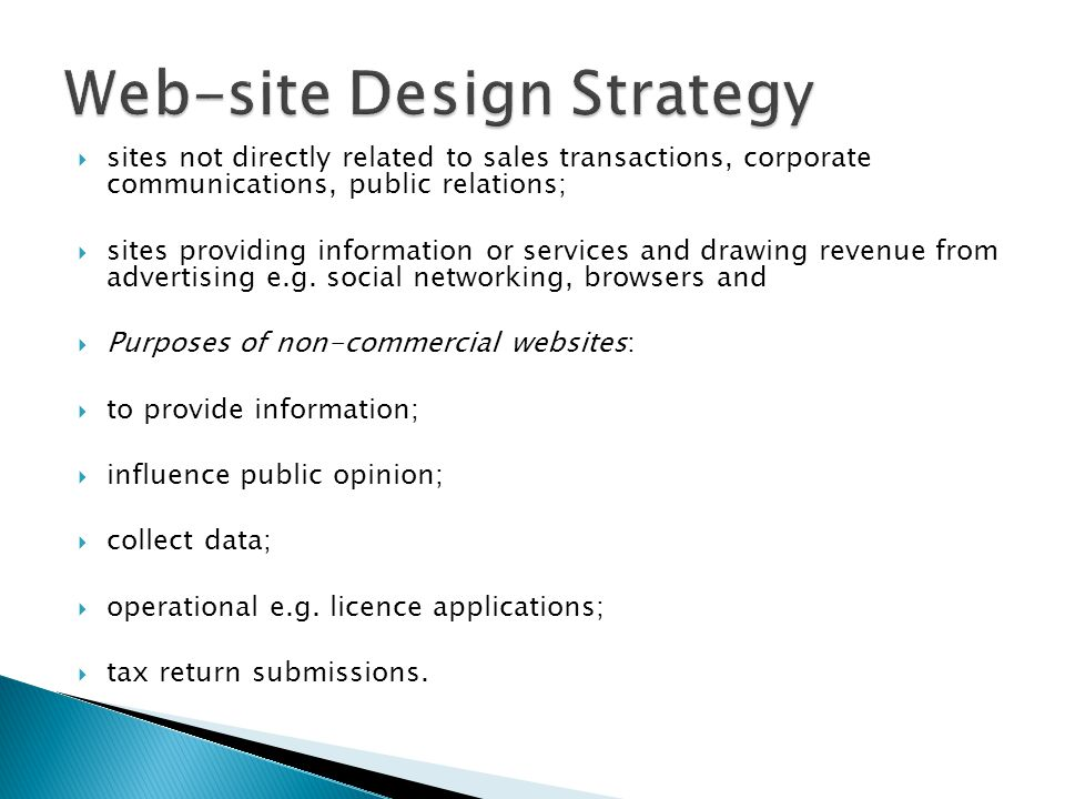 sites not directly related to sales transactions, corporate communications, public relations;  sites providing information or services and drawing revenue from advertising e.g.