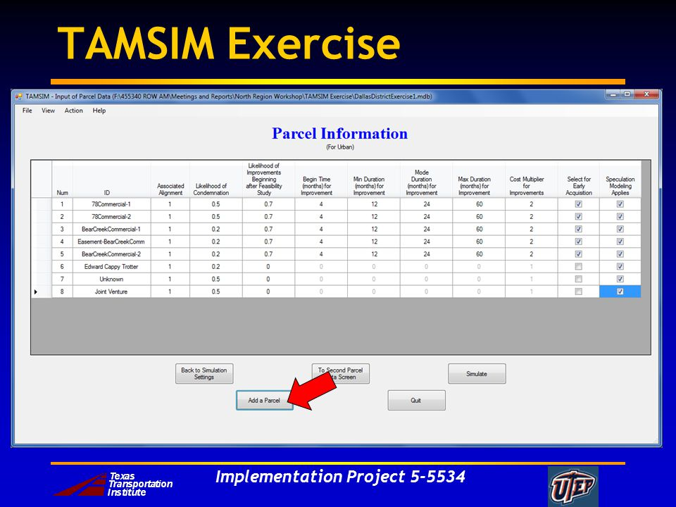 Implementation Project TAMSIM Exercise