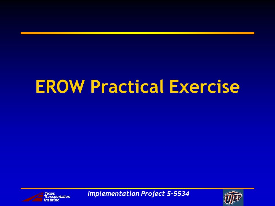 Implementation Project 5-5534 EROW Practical Exercise