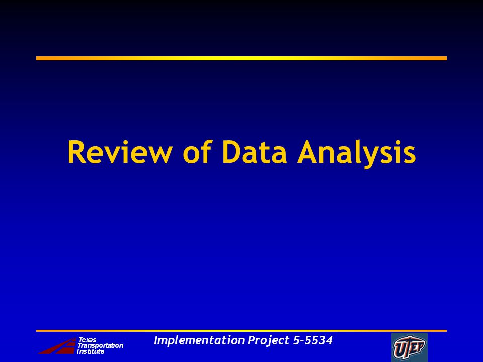 Implementation Project Review of Data Analysis